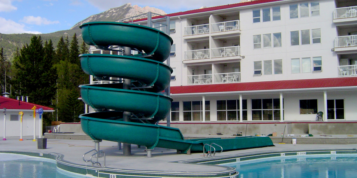 Outdoor Waterslide Hotel
