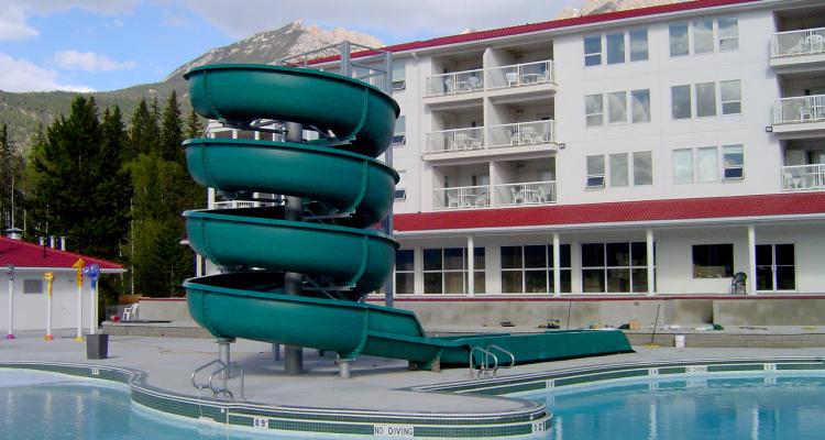 Outdoor Waterslide Hotel