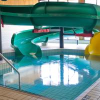 Green & Yellow Super Flumes at Douglas Fir Resort
