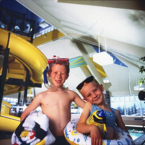 Kids at a Hotel Waterpark