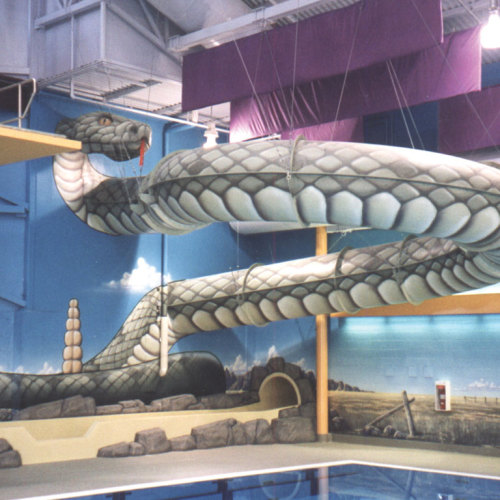 Snake Themed Waterslide